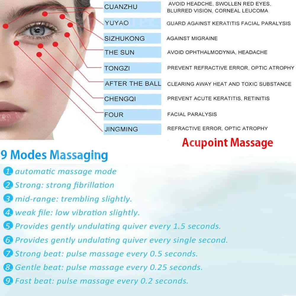 Electric Eye Care Vibration Magnet Therapy Massager helps ...