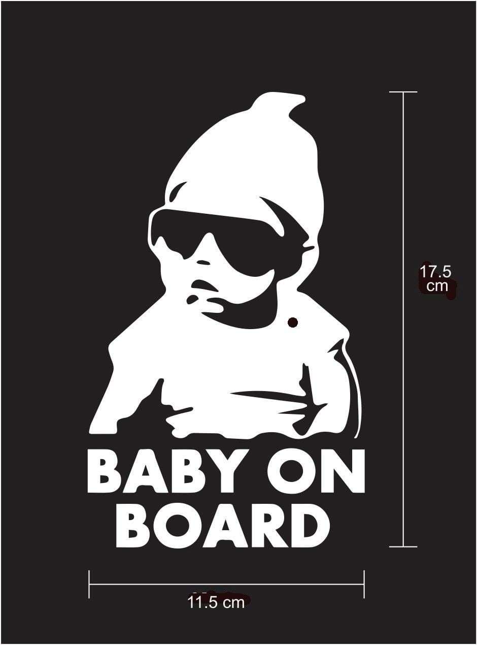 Baby on Board cool baby with sunglasses Car Sticker